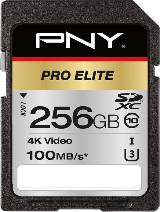 PNY Pro Elite R100/W90 SDXC 256GB, UHS-I U3, Class 10 (P-SD256U3100PRO-GE)