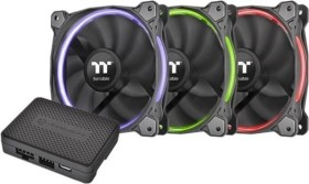 Thermaltake Riing 14 LED RGB TT Premium Edition, 140mm, 3er-Pack, LED-Steuerung (CL-F051-PL14SW-A)