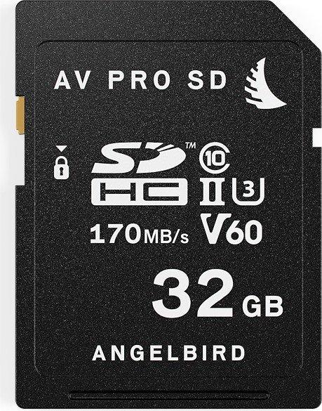 Angelbird AV PRO SD V60 R170/W105 SDHC 32GB, UHS-II U3, Class 10 (AVP032SDV60)