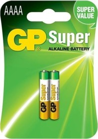 GP Batteries Super Alkaline mini AAAA, 2-pack