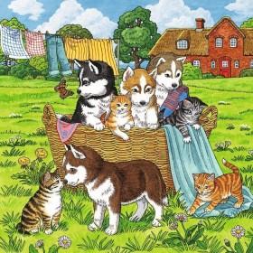 Ravensburger Puzzle Süße Katzen und Hunde (08002)