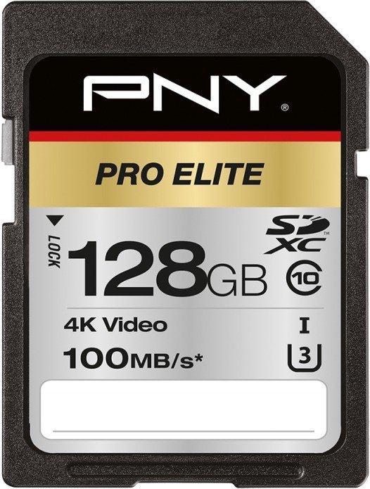 PNY Pro Elite R100/W90 SDXC 128GB, UHS-I U3, Class 10 (P-SD128U3100PRO-GE)
