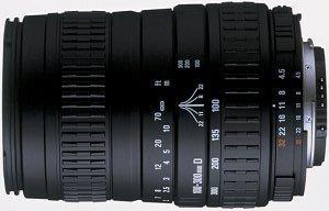 Sigma AF 100-300mm 4.5-6.7 DL for Canon EF black
