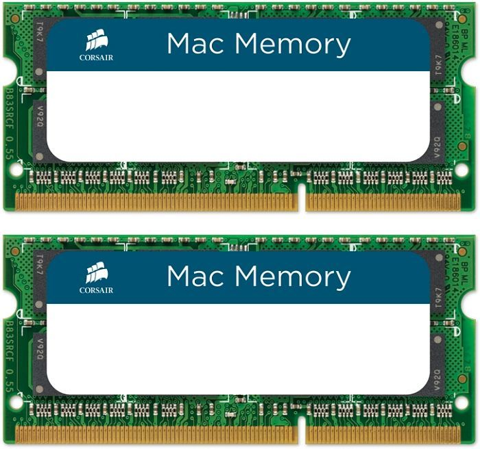 Corsair Mac Memory SO-DIMM Kit 8GB, DDR3-1066, CL7-7-7-20 (CMSA8GX3M2A1066C7)