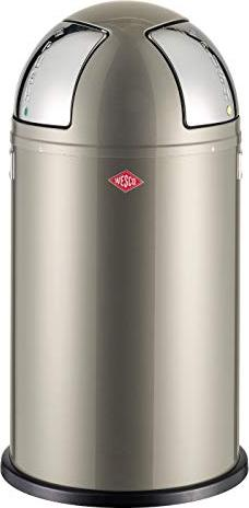 Wesco Pushboy Zilver.Wesco Pushboy Two 50l Garbage Can Nickel Silver 175861 03 From 123 07