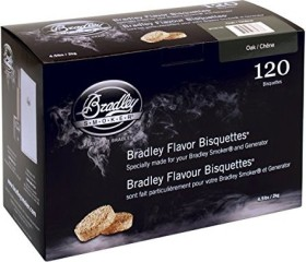 Bradley Smoker oak smoking bisquettes, 120-pack