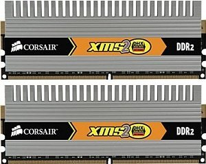 Corsair XMS2 DHX Series DIMM Kit   4GB, DDR2-800, CL5-5-5-18 (TWIN2X4096-6400C5DHX)