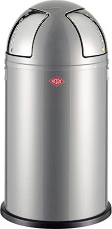 Wesco Pushboy Zilver.Wesco Pushboy Two 50l Garbage Can Silver 175861 11 From 123 07
