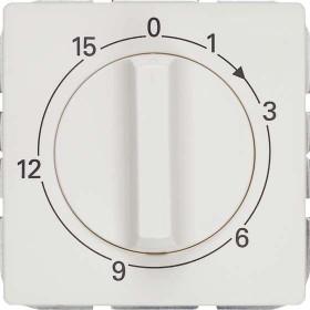 Siemens DELTA style Abdeckungsplatte für Zeitschaltuhr 15min, platinmetallic (5TC8932-1)