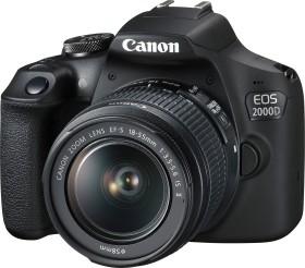 Canon EOS 2000D mit Objektiv EF-S 18-55mm IS II und EF 75-300mm (2728C017)