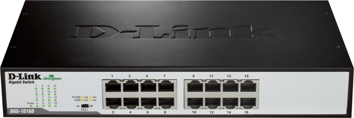 D-Link DGS-10 desktop Gigabit switch, 16x RJ-45 (DGS-1016D)