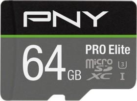 PNY R100/W90 microSDXC Pro elite 64GB kit, UHS-I U3 A1, Class 10 (P-SDU64GV31100PRO-GE)