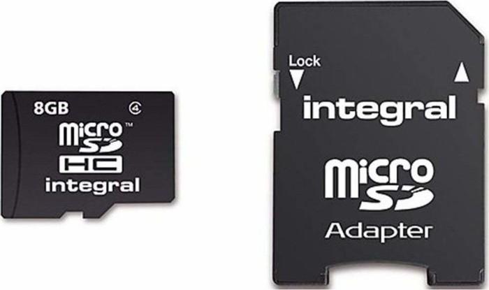 Integral ultima PRO R90 microSDHC 8GB Kit, UHS-I U1, Class 10 (INMSDH8G10-90U1)