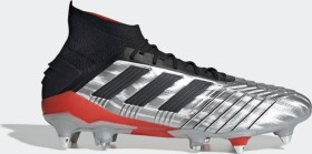 adidas Predator 19.1 SG silver met./core black/hi-res red (Herren) (F99986)