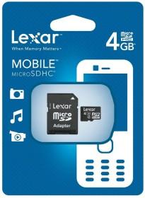 Lexar microSDHC 4GB Kit, Class 4 (LSDMI4GBABEUA)