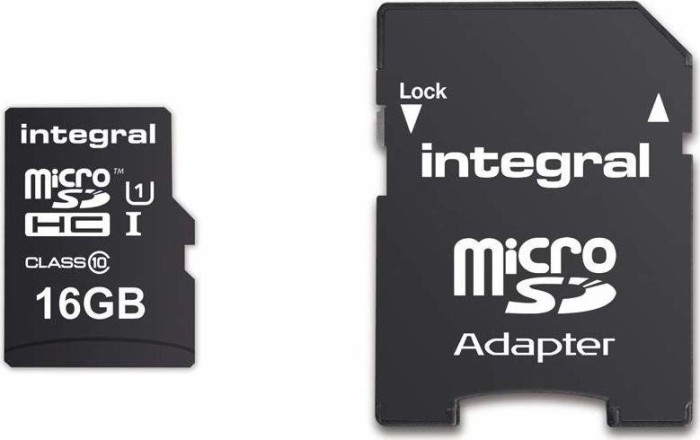 Integral ultima PRO R90 microSDHC 16GB Kit, UHS-I U1, Class 10 (INMSDH16G10-90U1)
