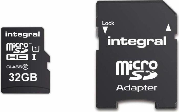 Integral UltimaPro 90MB/s microSDHC Kit 32GB, UHS-I/Class 10 (INMSDH32G10-90U1) -- via Amazon Partnerprogramm