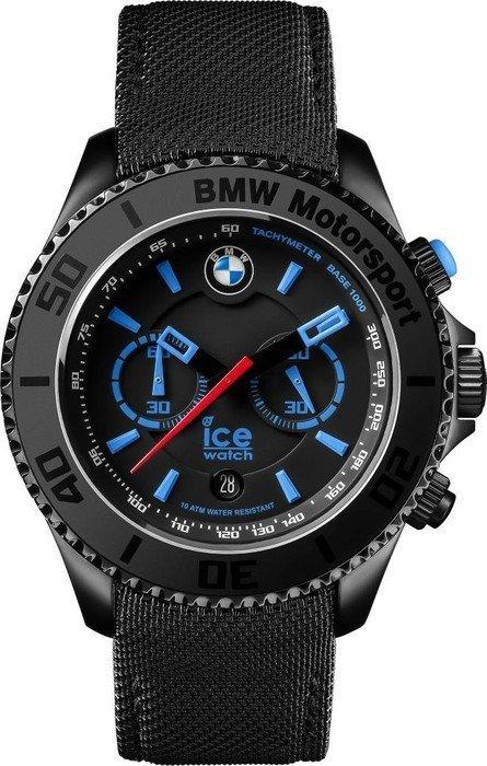 ice watch bmw motorsport steel chronograph black big big. Black Bedroom Furniture Sets. Home Design Ideas