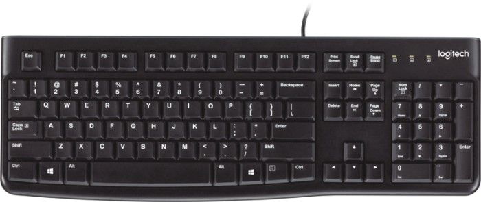 Logitech K120 Keyboard schwarz, USB, FR (920-002488)