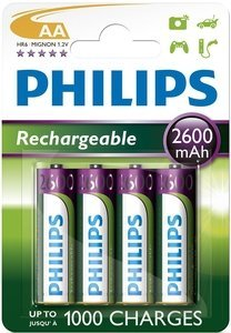 Philips MultiLife Mignon AA NiMH rechargeable battery 2600mAh, 4-pack (R6B4A270/10)