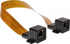 InLine flat RJ-45 patch cable/window conduit, 2x RJ-45 socket, 0.3m (69991I)