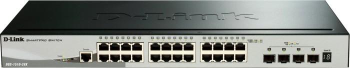 D-Link DGS-1510 Rackmount Gigabit Smart stack switch, 24x RJ-45, 4x SFP+ (DGS-1510-28X)