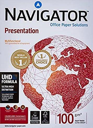 Navigator Multifunktionspapier Presentation A4 100g//qm VE=500 Blatt wei/ß