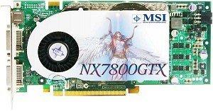 MSI NX7800GTX-VT2D256E, GeForce 7800 GTX, 256MB DDR3, 2x DVI, ViVo, PCIe (V801-009)