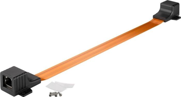 Wentronic Goobay Flachband RJ-45 Patchkabel/Fensterdurchführung, 2x RJ-45 Buchse, 0.5m (71413)