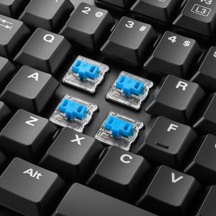 Sharkoon PureWriter TKL, Kailh Blue, USB, DE