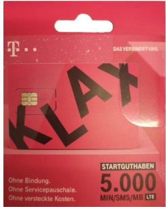 T-Mobile KLAX Wertkarten -- via Amazon Partnerprogramm