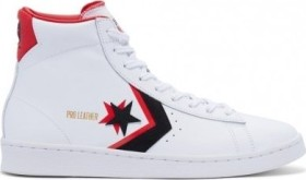 Converse Pro Leather Double Logo High Top white/black/uni red (169024C)