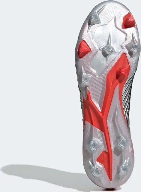 adidas Predator 19.1 FG silver met.core blackhi res red (men) (F35607) from £ 180.00