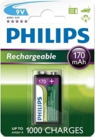 Philips MultiLife 9V-Block NiMH 170mAh (9VB1A17/10)