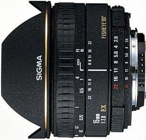 Sigma AF 15mm 2.8 EX diagonal fisheye for Canon EF black (475927)
