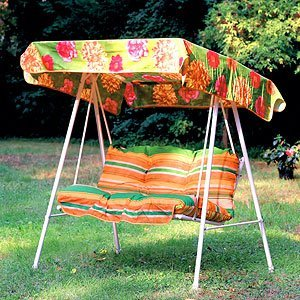Kika garden swing seat coloured