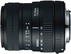 Sigma AF 55-200mm 4.0-5.6 DC für Canon EF schwarz (684927)