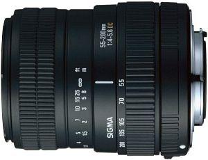 Sigma AF 55-200mm 4.0-5.6 DC do Canon EF czarny (684927)
