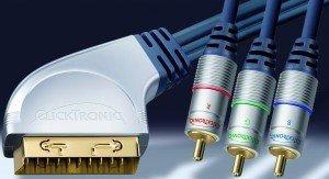 Clicktronic HC401 SCART/Komponenten Kabel 1m (HC401-100)