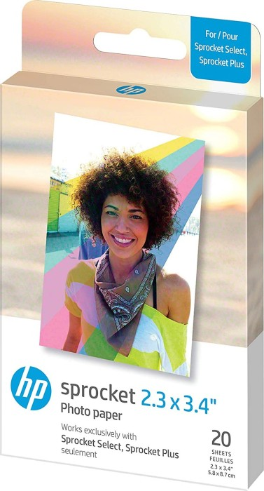 "HP ZINK Sprocket Plus 2.3x3.4"" Photo Paper (2LY72A)"