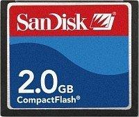 SanDisk CompactFlash Card [CF] 2GB (SDCFB-2048) -- © SanDisk