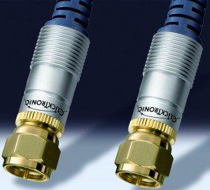 Clicktronic HC601 F-Plug Antennenkabel 1m (HC601-100)