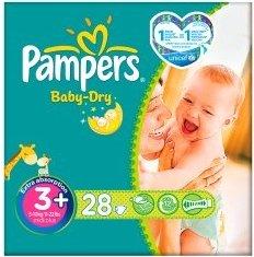 Pampers Baby-Dry Gr.3 Einwegwindel, 4-9kg, 28 Stück