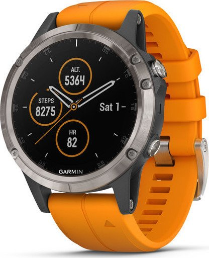Garmin Fenix 5 Plus Sapphire Titan Orange 010 01988 05 Starting
