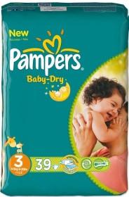 Pampers Baby-Dry Gr.3 Einwegwindel, 4-9kg, 39 Stück