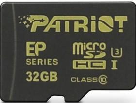 Patriot EP R90/W45 microSDHC 32GB Kit, UHS-I, Class 10 (PEF32GEMCSHC10)