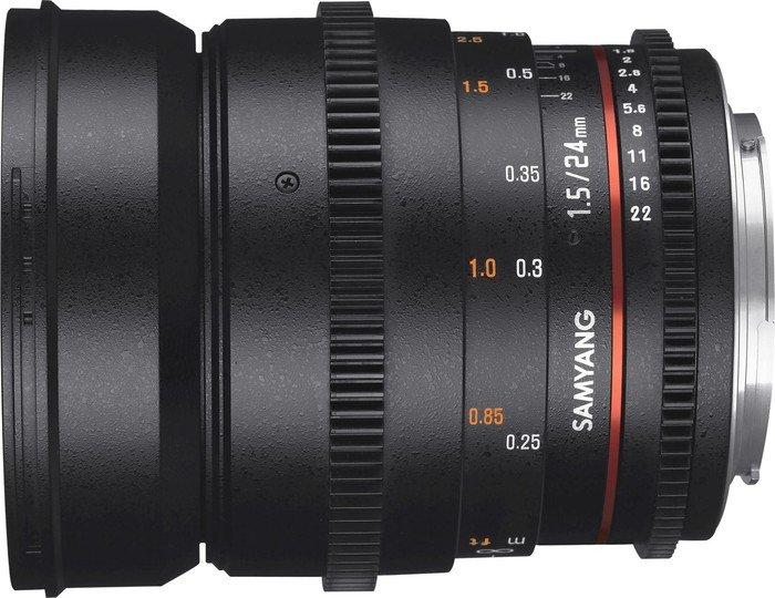 Samyang 24mm T1.5 AS IF UMC II VDSLR für Canon EF-M schwarz (1312802101)