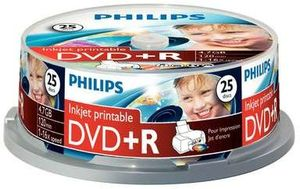 Philips DVD+R 4.7GB, 25-pack (DR4I6B25F)