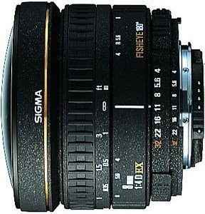 Sigma AF 8mm 4.0 EX Zirkular Fisheye für Canon EF schwarz (483927)