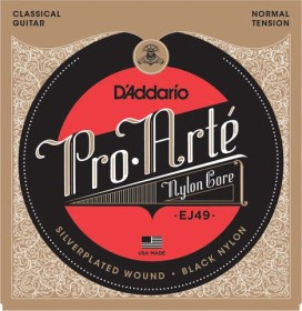 D'Addario Pro-Arté Black nylon Core, normal Tension (EJ49)
